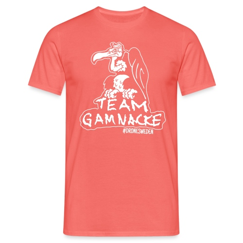 Team Gamnacke Drone Sweden vit - T-shirt herr