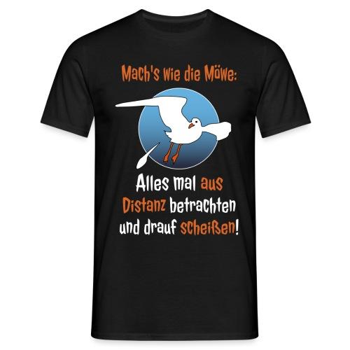 Möwe Scheißen Distanz Abstand Corona Spruch Lustig - Männer T-Shirt