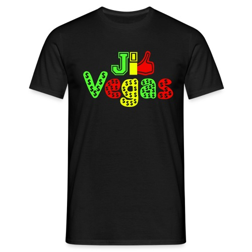 je LIKE Las Vegas heart beat pop art - Men's T-Shirt