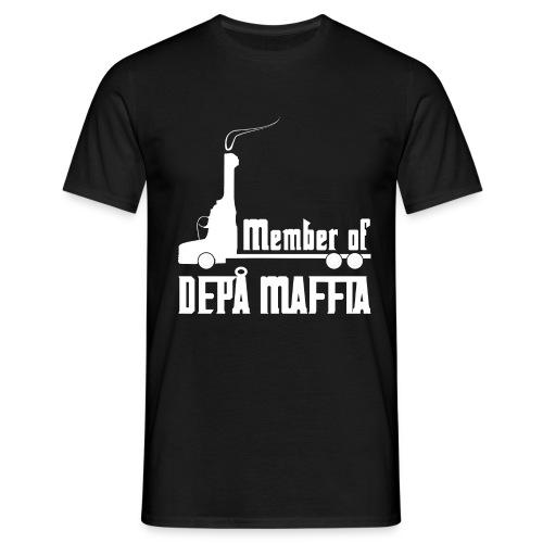 Depå Maffia vitt tryck - T-shirt herr