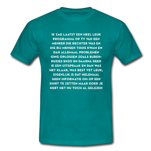Rijdende rechter - Mannen T-shirt