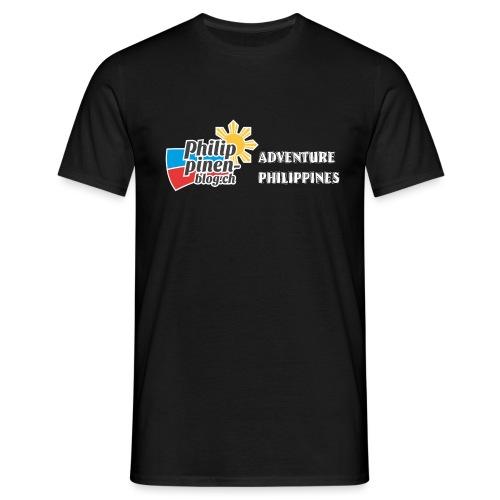 Philippinen-Blog Logo english schwarz/weiss - Männer T-Shirt