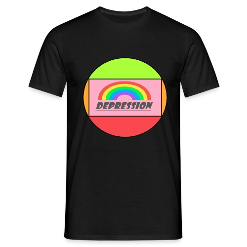 Depressed design - Men's T-Shirt
