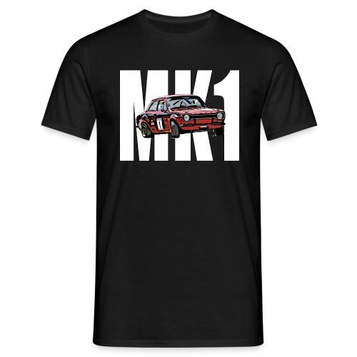 Mk1 Escort over Text - Men's T-Shirt