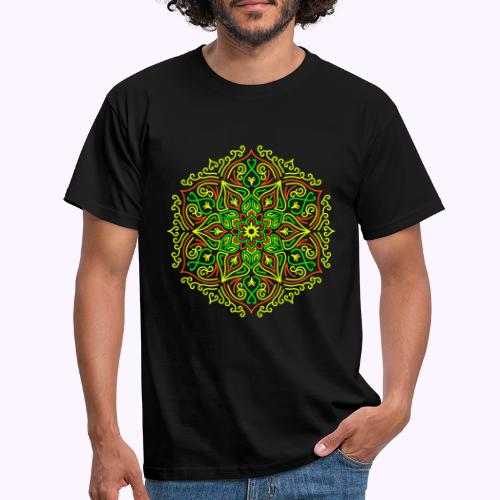 Fire Lotus Mandala - T-shirt herr