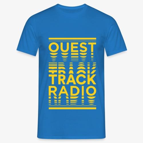 Logo Vertical Grand Jaune - T-shirt Homme