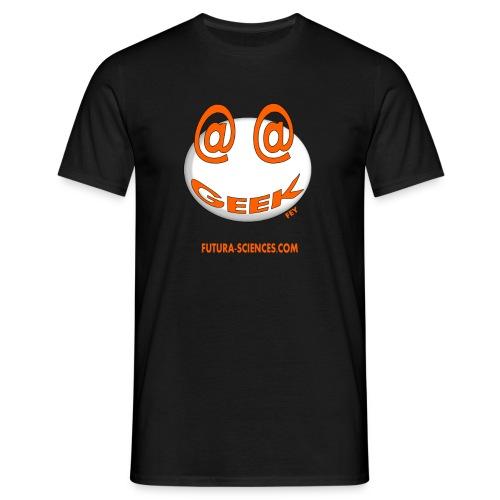geek arobase orange - T-shirt Homme