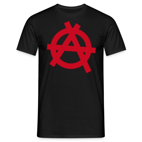 Anarchy symbol - red - Men's T-Shirt