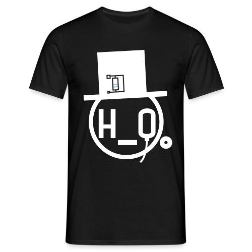 h0 logo blk wdrstndlogohat - Men's T-Shirt