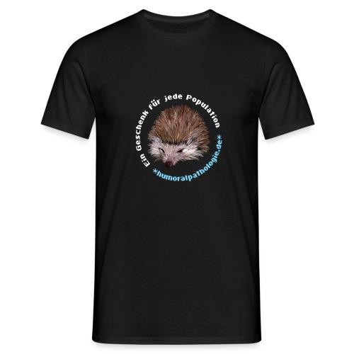 Igel blau ohne Kontur - Männer T-Shirt