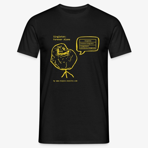 singleton yellow gif - Men's T-Shirt