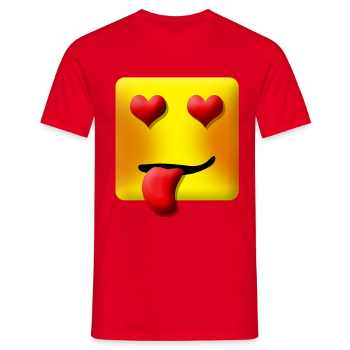 Love Face Square Tongue - Herre-T-shirt