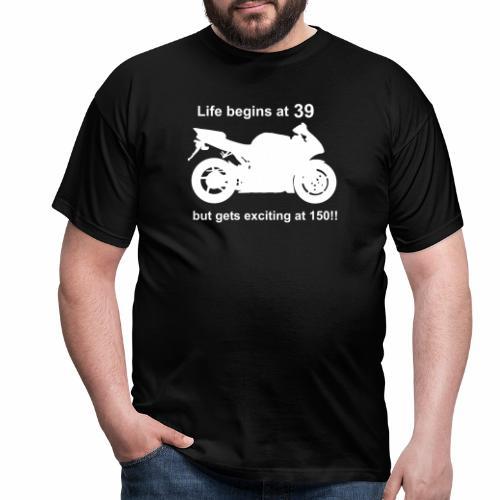 life begins 39 - Men's T-Shirt