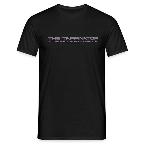 taffinator white red - Men's T-Shirt