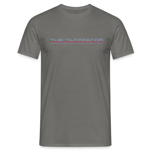 taffinator white red 2 - Men's T-Shirt