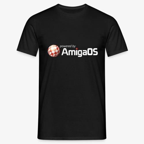 PoweredByAmigaOS white - Men's T-Shirt