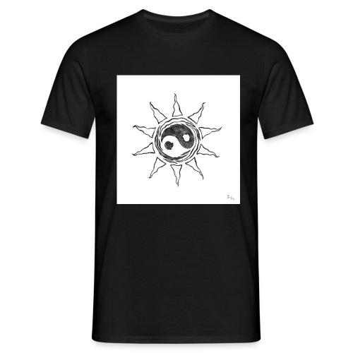 sole yin yang - Maglietta da uomo