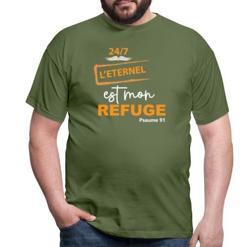 24 7 eternel mon refuge orange blanc - T-shirt Homme
