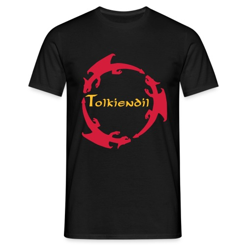 trois dragons tolkiendil forgottenuncial - T-shirt Homme