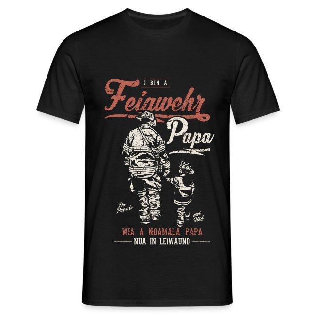 Vorschau: Feiawehrpapa - Männer T-Shirt