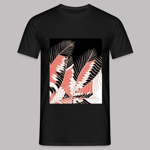 foglie palma 3 living coral - Maglietta da uomo