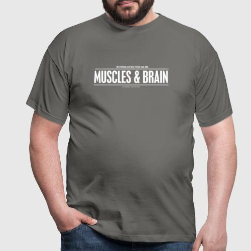 MUSCLES AND BRAIN W - Herre-T-shirt