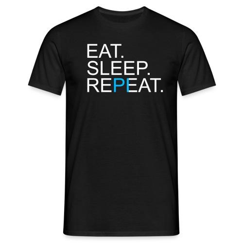 Eat Sleep Repeat PI Mathe Dunkel - Männer T-Shirt