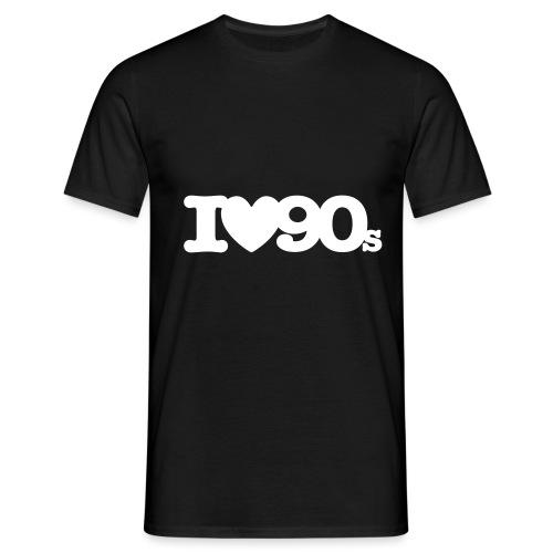 I love 90s (einfarbig) - Männer T-Shirt