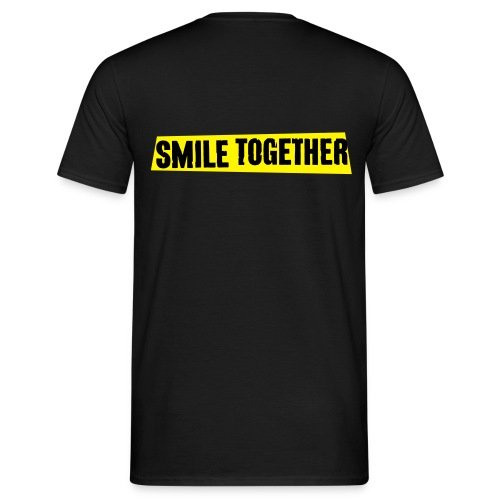 Smile Together Black Yellow - Men's T-Shirt