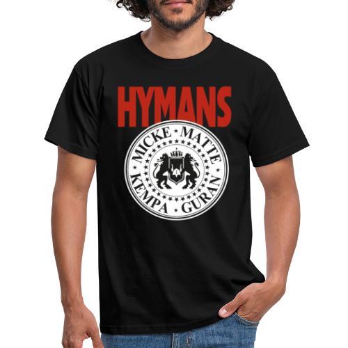 Hymans Red White Black logo - T-shirt herr