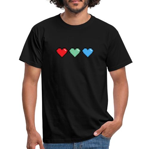 Three Extra Lives Hearts - Men's T-Shirt