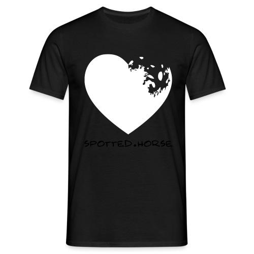 Cuore Appaloosa (bianco/rosso) - Maglietta da uomo