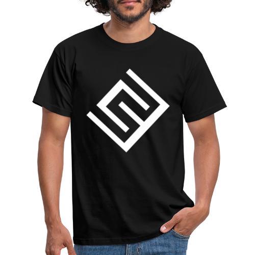 ChrisWhippit Logo Vit - T-shirt herr