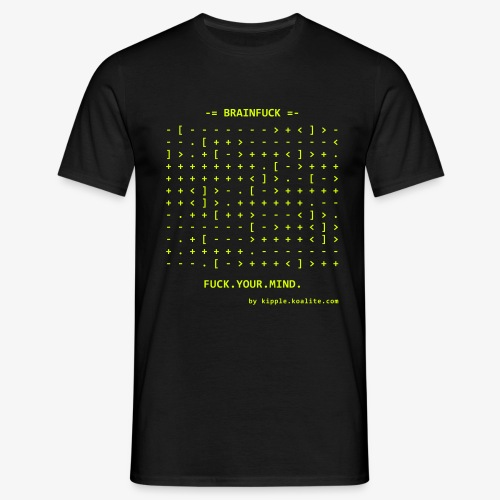 brainfuck-yellow - Men's T-Shirt