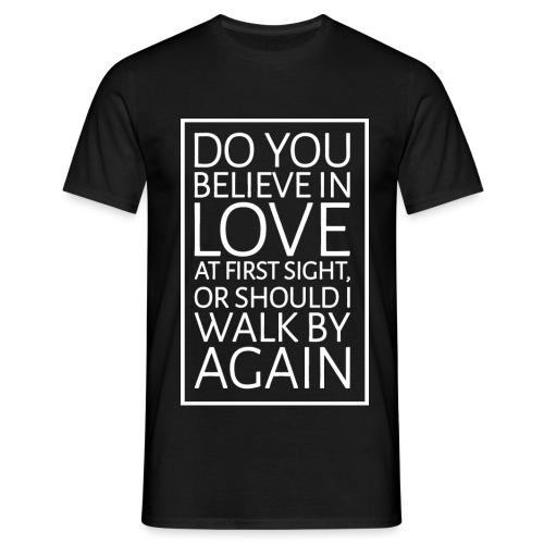 pickup_line_3_white_borde - Men's T-Shirt