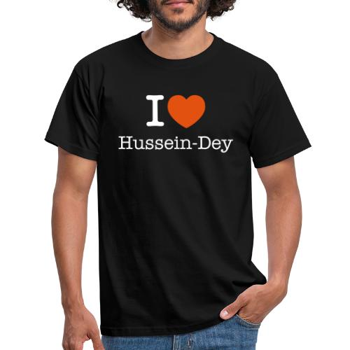 I Love Hussein Dey Blanc - T-shirt Homme