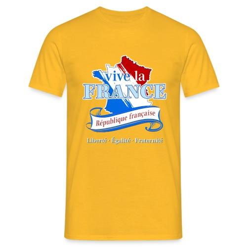 vive la France Frankreich République Française - Men's T-Shirt