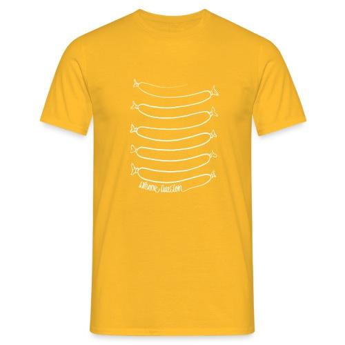 Wiener Illusion (weiß auf schwarz) - Männer T-Shirt
