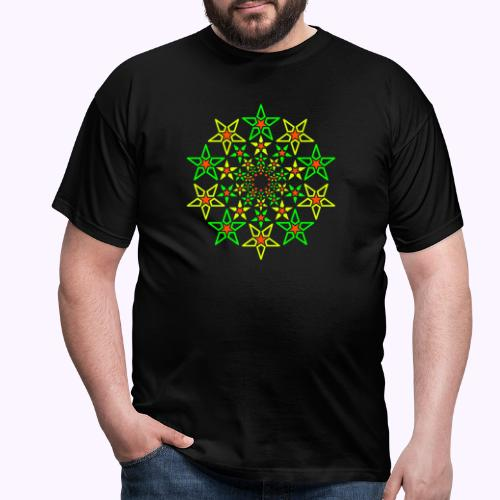 Fractal Star 3 color neón - Camiseta hombre