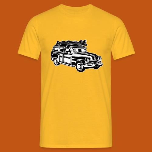 Chevy Cadilac Woodie / Oldtimer Kombi 01_sw - Männer T-Shirt