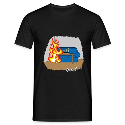 Cyniskt julmotiv - Glöm inte ljusen - Vit - T-shirt herr