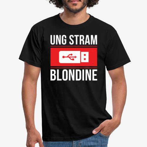 Ung Stram Blondine - Hvid - Herre-T-shirt