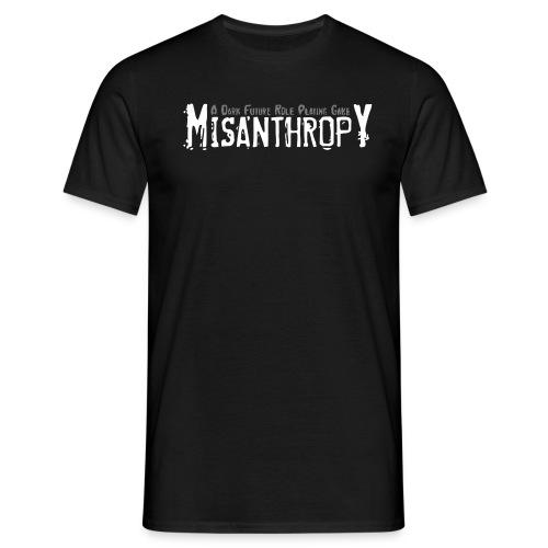 Misanthropy Schrift - Männer T-Shirt