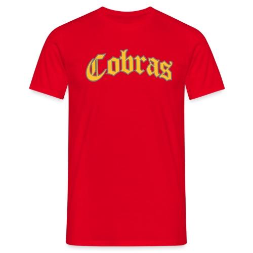 Cobras Schriftzug - Männer T-Shirt