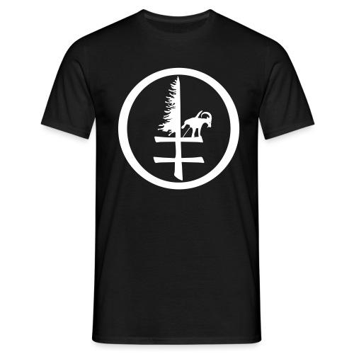 goatdog devil eyes kreis - Männer T-Shirt