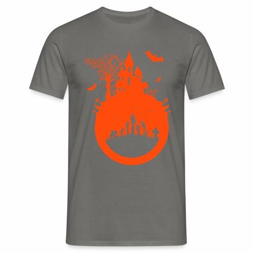 Halloween Design - Das Spukhaus - Männer T-Shirt