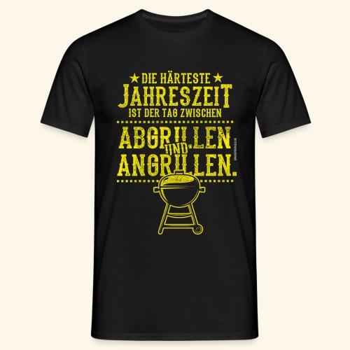 Grill-T-Shirt Grillsaison Abgrillen Angrillen - Männer T-Shirt