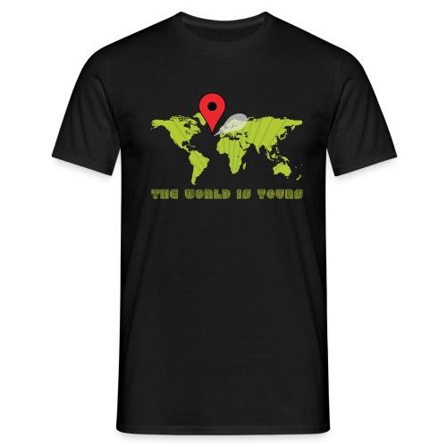 world is yourmet pin - Mannen T-shirt