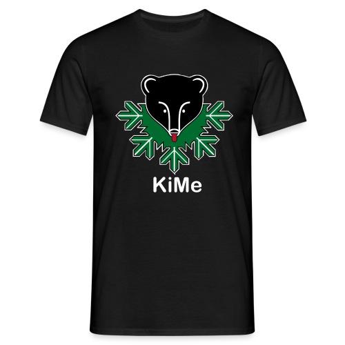 KiMe-logotuotteet valkoisella tekstilla - Miesten t-paita