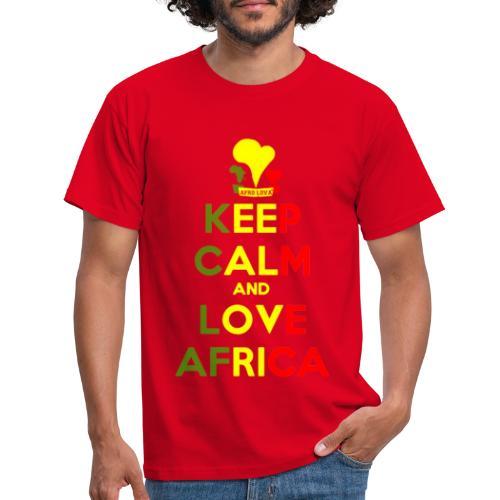 keep calm love africa - T-shirt Homme